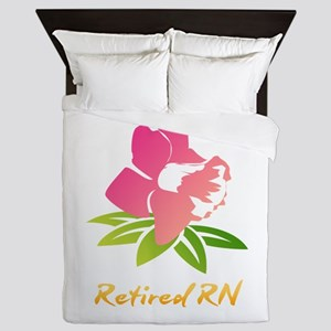 Retired RN Flower Queen Duvet